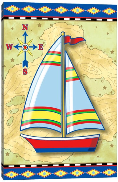 Nautical V Canvas Art Print