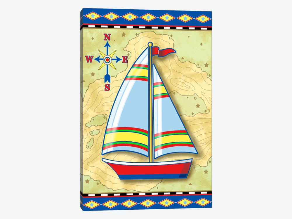 Nautical V 1-piece Canvas Wall Art