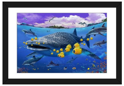 Shark/Dolphin Framed Art Print