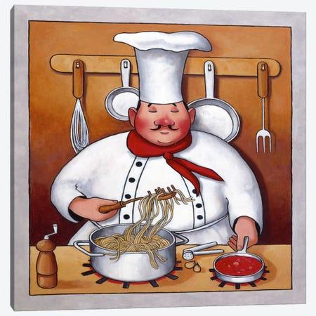 Chef 4 Canvas Print #9407} by John Zaccheo Canvas Art