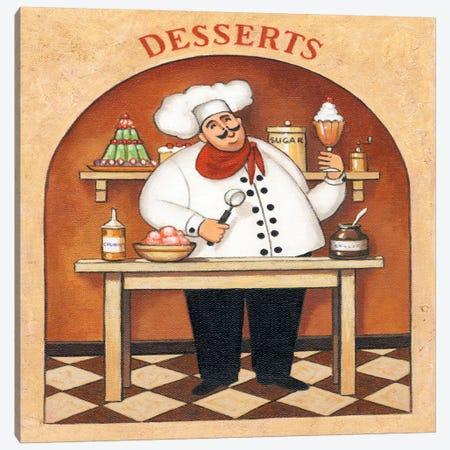 Desserts 3-Piece Canvas #9424} by John Zaccheo Canvas Art