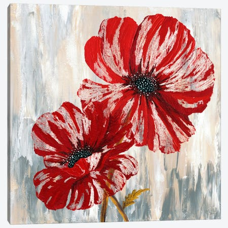 Red Poppies II Canvas Print #9430} by Willow Way Studios, Inc. Canvas Artwork