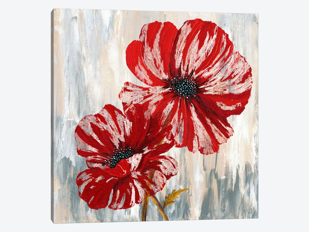 Red Poppies II by Willow Way Studios, Inc. 1-piece Canvas Art Print