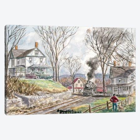 Fall Train Canvas Print #9439} by Stanton Manolakas Canvas Art
