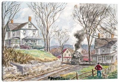 Fall Train Canvas Art Print