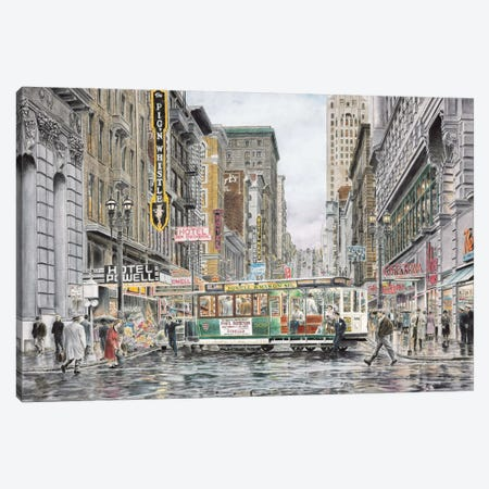 Eddy St: San Francisco Canvas Print #9441} by Stanton Manolakas Canvas Print
