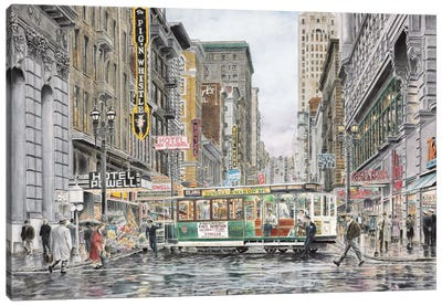 Eddy St: San Francisco Canvas Art Print