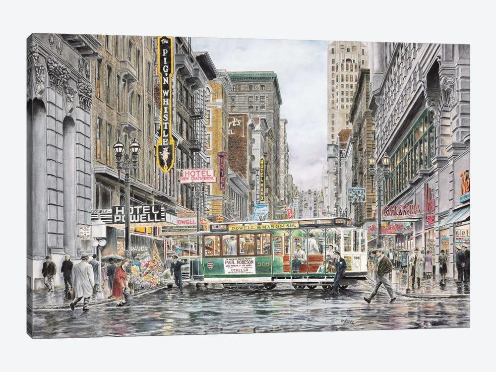 Eddy St., San Francisco by Stanton Manolakas 1-piece Canvas Art Print