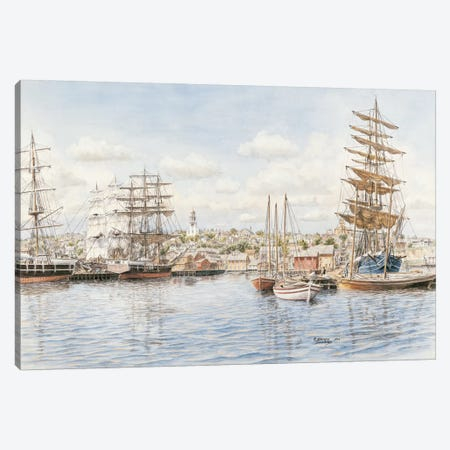 Nantucket, California, 1865 Canvas Print #9442} by Stanton Manolakas Canvas Art Print