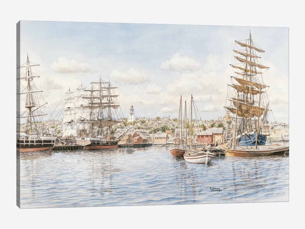 Nantucket, California, 1865 by Stanton Manolakas 1-piece Canvas Artwork