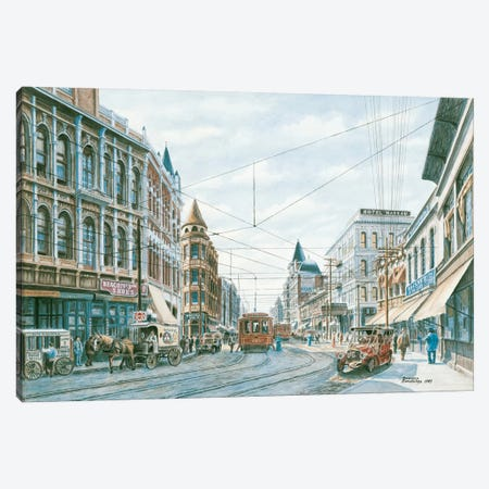 Looking South of Spring St. Canvas Print #9443} by Stanton Manolakas Canvas Art Print