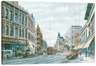 Looking South of Spring St. Canvas Art Print