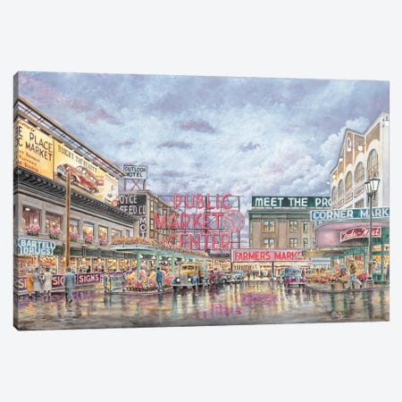 Pike Place Market Canvas Print #9444} by Stanton Manolakas Canvas Wall Art