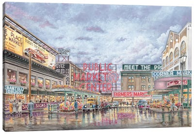 Pike Place Market Canvas Art Print