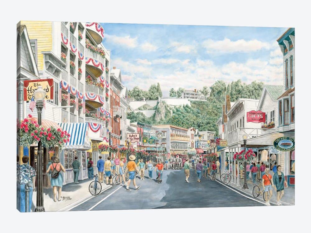 Main St., Mackinaw by Stanton Manolakas 1-piece Canvas Print