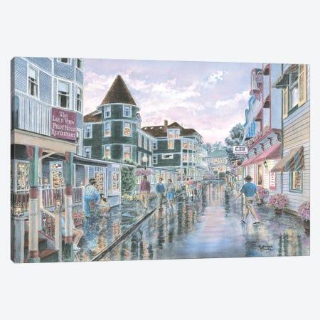 Mackinaw Sunset Canvas Print #9446} by Stanton Manolakas Canvas Art