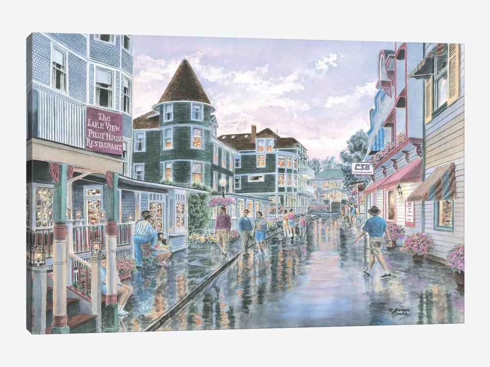 Mackinaw Sunset by Stanton Manolakas 1-piece Canvas Art