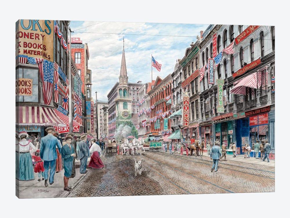 Four Alarm 4th of July by Stanton Manolakas 1-piece Canvas Print