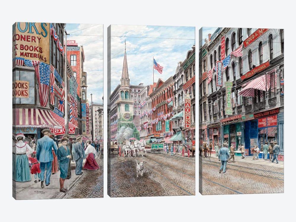 Four Alarm 4th of July by Stanton Manolakas 3-piece Canvas Art Print
