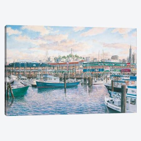 Fisherman's Wharf Sunset Canvas Print #9449} by Stanton Manolakas Canvas Print