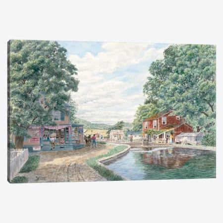 Summertime, Morris Canal Canvas Print #9452} by Stanton Manolakas Canvas Artwork
