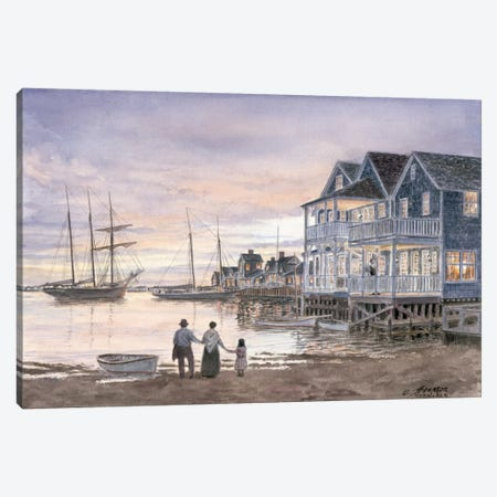 Nantucket Sunset 3-Piece Canvas #9457} by Stanton Manolakas Canvas Print