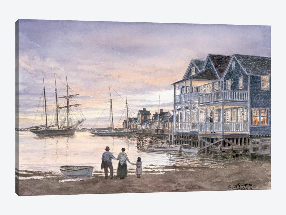 Nantucket Sunset by Stanton Manolakas 1-piece Canvas Artwork