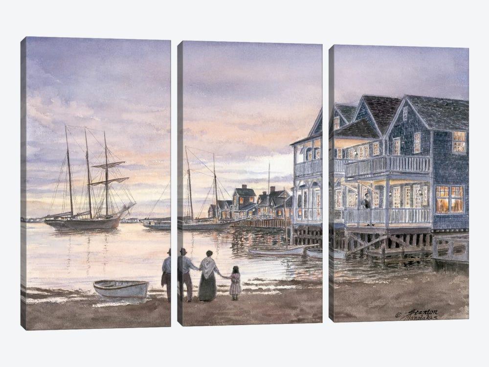 Nantucket Sunset by Stanton Manolakas 3-piece Canvas Art