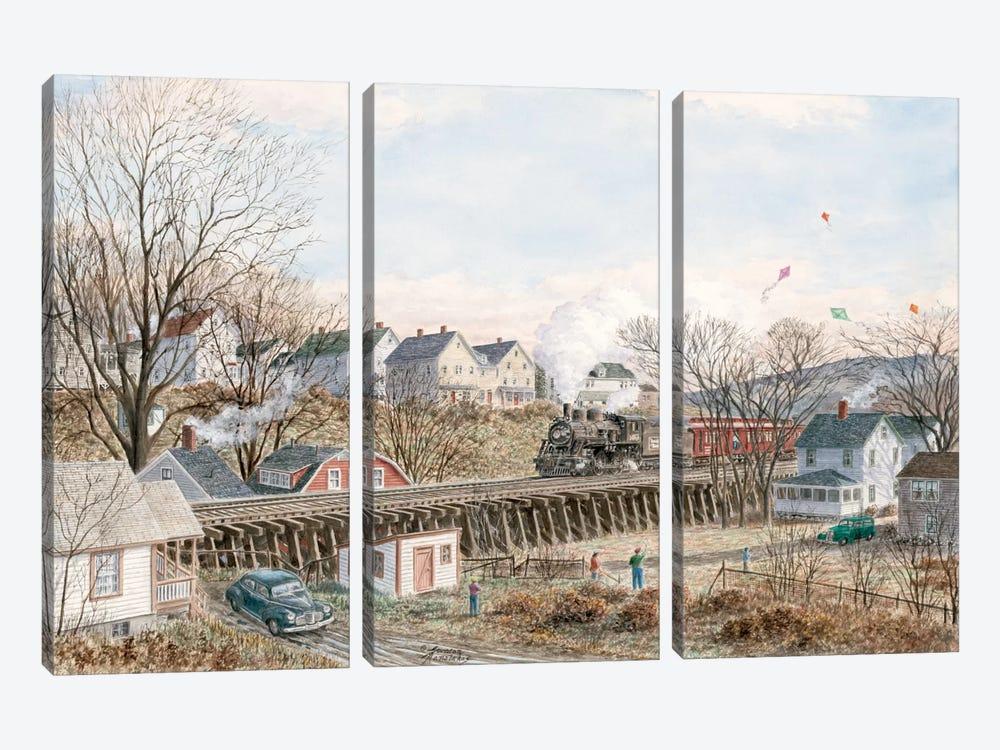 Kites of March by Stanton Manolakas 3-piece Canvas Art Print