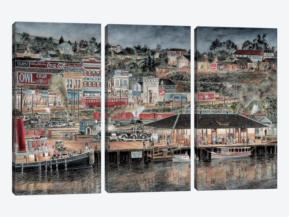 San Pedro by Stanton Manolakas 3-piece Canvas Print