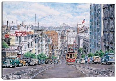 Down California Canvas Art Print