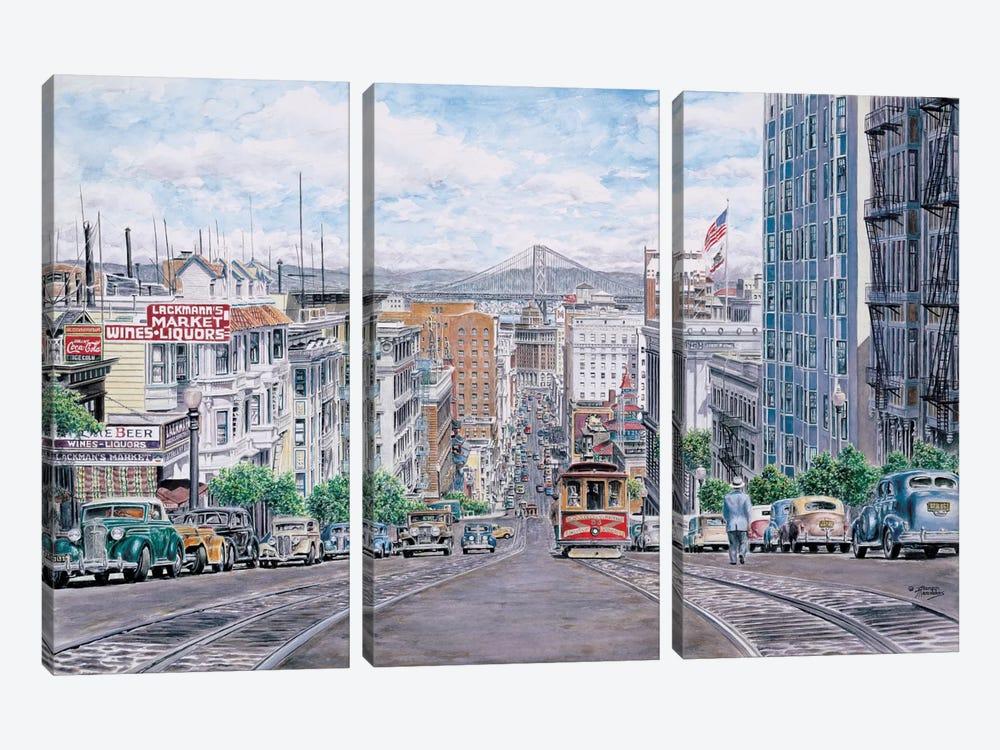 Down California by Stanton Manolakas 3-piece Canvas Art