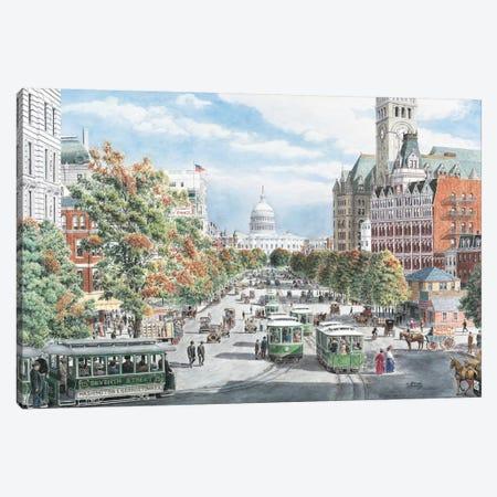 Washington DC Gridlock Canvas Print #9463} by Stanton Manolakas Canvas Art Print