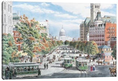 Washington DC Gridlock Canvas Art Print