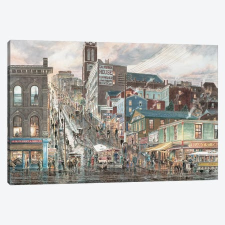 Kearny St., San Francisco Canvas Print #9464} by Stanton Manolakas Canvas Artwork