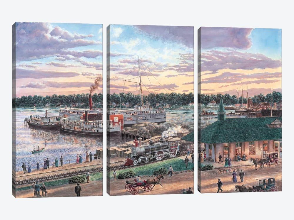Harbor Springs, Michigan by Stanton Manolakas 3-piece Canvas Print