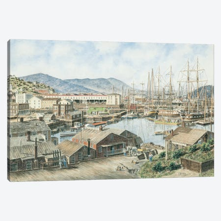 Yerba Buena Cove, San Francisco Canvas Print #9466} by Stanton Manolakas Canvas Art