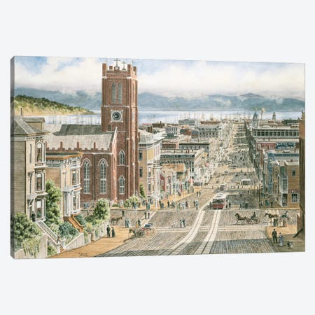 Their Sunday Best, California & Dupont, San Francisco Canvas Print #9469} by Stanton Manolakas Canvas Print