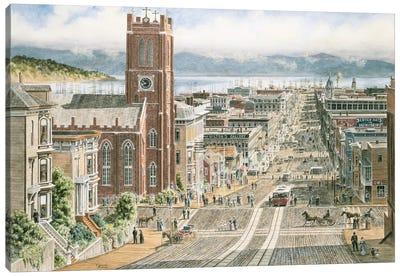 Their Sunday Best, California & Dupont, San Francisco Canvas Art Print