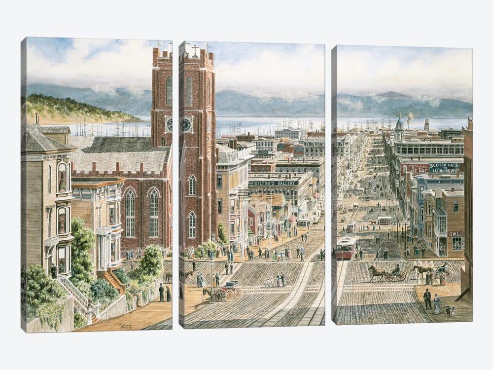 Their Sunday Best, California & Dupont, San Francisco by Stanton Manolakas 3-piece Art Print