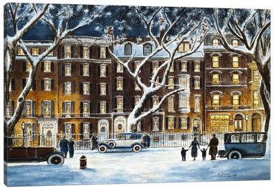 Beacon Street Canvas Art Print