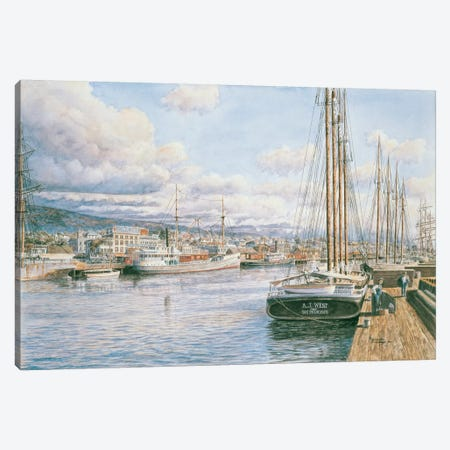 San Pedro Sunrise, c.1913 Canvas Print #9473} by Stanton Manolakas Canvas Wall Art