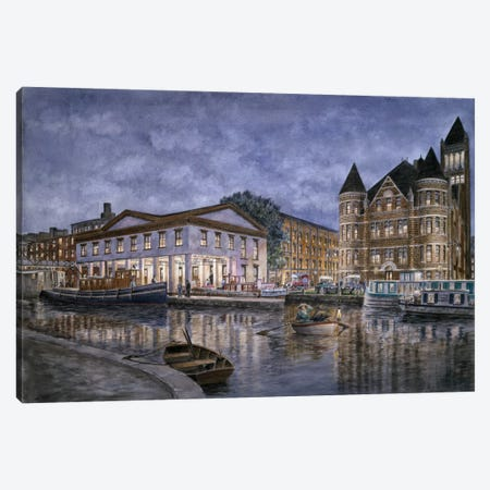 The Weighlocks & City Hall, Syracuse Canvas Print #9475} by Stanton Manolakas Canvas Print