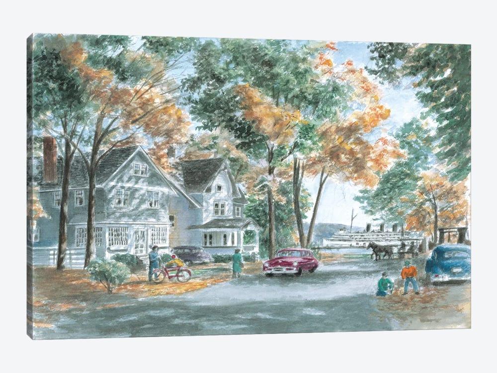 Autumn on Gwenn Dr. by Stanton Manolakas 1-piece Canvas Artwork