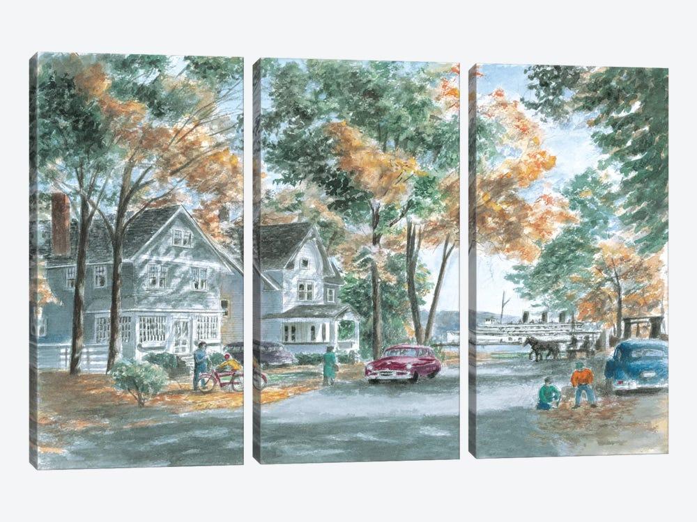 Autumn on Gwenn Dr. by Stanton Manolakas 3-piece Canvas Wall Art