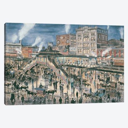 Greely Square, New York City Canvas Print #9478} by Stanton Manolakas Canvas Artwork