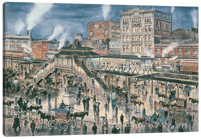 Greely Square, New York City Canvas Art Print