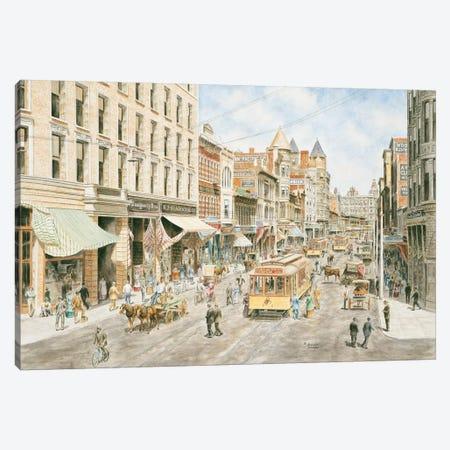 3rd & Spring, Los Angeles Canvas Print #9481} by Stanton Manolakas Canvas Art Print