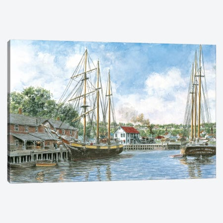 The Marshall Toothpick Factory Canvas Print #9483} by Stanton Manolakas Art Print
