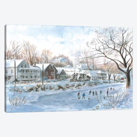 The Hockey Game Canvas Print #9484} by Stanton Manolakas Canvas Wall Art